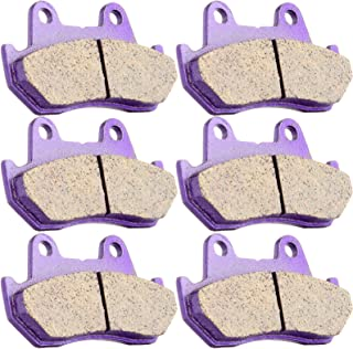 SCITOO Kevlar Carbon Fiber Brake Pads Fit for Honda Goldwing 1200 GL1200A Aspencade 1984-1987 FA69/3 Front and Rear