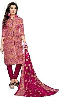 Minu salwar Cotton Printed Suit sets Pink(Kesar_6007)