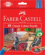 Faber-Castell PL115858 48-pieces Classic Coloured Pencils with Sharpener