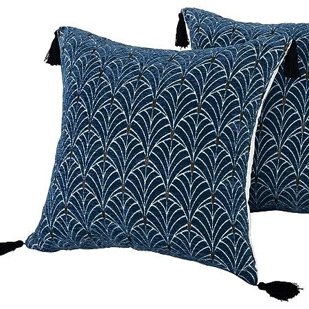 Blue Japanese print pillow,18x18 pillow indigo pillow, Asian print collection pillow