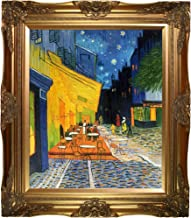 La Pastiche overstockArt Van Gogh Cafe Terrace at Night with Victorian Gold Frame Oil Painting, Gold Finish