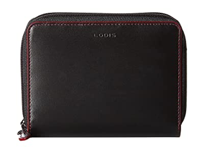 Lodis Accessories Audrey RFID Laney Continental Double Zip Wallet (Black) Wallet Handbags