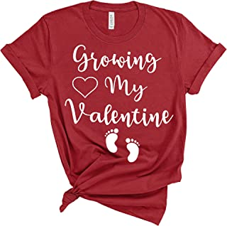 e4f5928f2 Amazing Retro Growing My Valentine Valentines Day Pregnant Pregnancy  Announcement Shirt Red