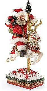 Department 56 Possible Dreams Anniversary Carousel Santa, 17 inch