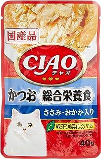 チャオ (CIAO) キャットフード パウチ 総合栄養食 かつお ささみ・おかか入り 40g×16個 (まとめ買い)