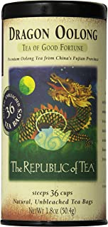 The Republic of Tea Dragon Oolong Tea, 36 Tea Bag Tin