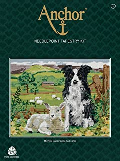 Anchor MR7004 Tapestry-Border Collie and Lamb, Multi, 30 x 40cm