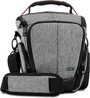 UTL Mochila Cámara Reflex/Bolsa Protectora DSLR/Funda de Cámara Digital Compatible con Nikon Canon EOS Pentax K50 y Accesorios. Color Gris