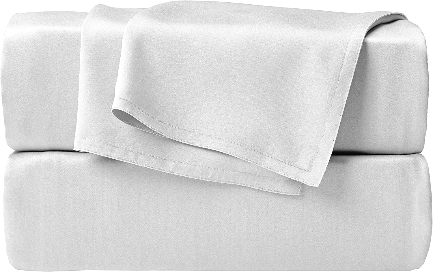 STYLINEN 100% Tencel Sheets Queen Size Bed Sheets 4pc Set, 100% Eucalyptus Lyocell Sheets Set, Silky Soft & Smooth, Breathable, 16