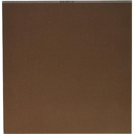Bazzill Basics Paper 25Feuilles Scrapbooking sur Toile Texture, Marron