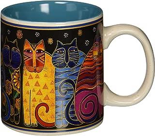Laurel Burch Artistic Collection Mug, Feline Family Portrait, Multicolor