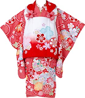 七五三 着物 3歳 被布セット 日本の晴着 陽気な天使 レッド 3400-00110