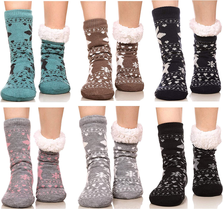 FRALOSHA Women's Slipper Socks Set Floor Home 6 Warm Pairs Detroit Mall Over item handling ☆