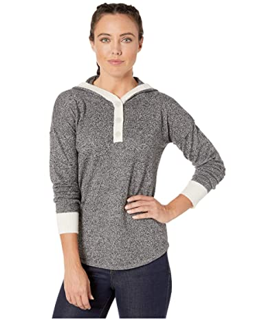 Smartwool Shadow Pine Hoodie Sweater (Black/Moonbeam Marl) Women