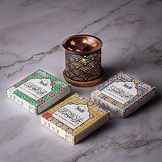 Dukhni Oud Bakhoor Pack of 3 fragrances (Oud Al Mukhtar, Oud Al Madhmoon, Oud Al Awatef Bakhoor - (3 Trays x 9 piece each)...
