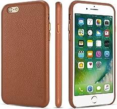 iPhone 6 Plus Case iPhone 6s Plus Case Rejazz Anti-Scratch iPhone 6 Plus Cover iPhone 6s Cover Genuine Leather Apple iPhone Cases for iPhone 6/6s Plus (5.5 Inch)(Brown)
