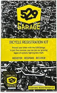 529 Garage Bicycle Registration Kit (US Edition) - Four Bike Kit