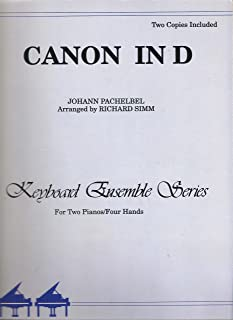 Canon in D for 2 Pianos 4 Hands (2 Copies)