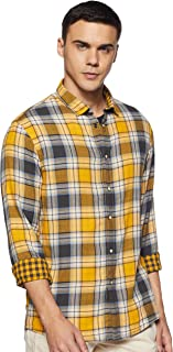 Celio Mens Slim Collar Check Reversible Shirt
