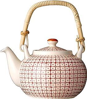 Bloomingville Red Ceramic Carla Teapot, Multicolor