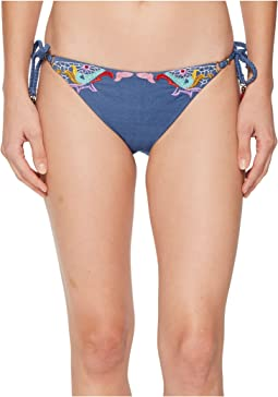 Nanette Lepore Dazed Denim Vamp Bikini Bottom