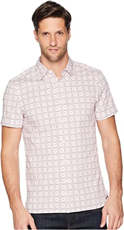 Slim Fit Stretch Geo Print Shirt