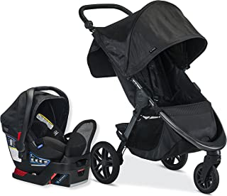 Britax B-Free Travel System with B-Safe Endeavours Infant Car Seat - Birth to 65 Pounds, Midnight