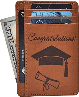 Personalized Engraved Wallet - Brown Real Leather RFID Blocking Money Wallet