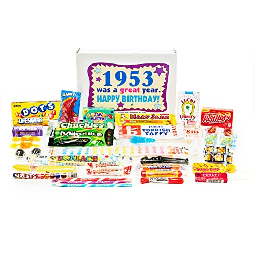 31600c1a7a07 Woodstock Candy ~ 1953 66th Birthday Gift Box Nostalgic Retro Candy Mix  from Childhood for 66
