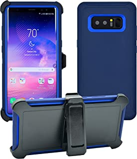 AlphaCell Cover Compatible with Samsung Galaxy Note 8 | Holster Case Series | Military Grade Protection with Carrying Belt Clip | Protective Drop-Proof Shock-Proof | Navy Blue/Blue