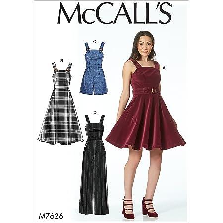 McCall's Patterns 7626 D5,Misses Dresses,Belt,Romper and Jumpsuit,Sizes 12-20, Tissue, Multi/Colour, 17 x 0.5 x 0.07 cm