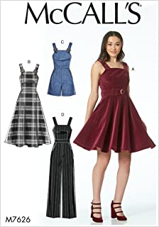 "McCall ""s Patterns 7626 D5 Schnittmuster Kleider, Gürtel, Strampler und Overall, Mehrfarbig"