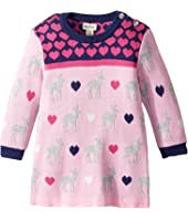 Hatley Kids - Deer Hearts Mini Sweater Dress (Infant)