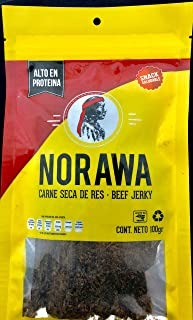 Pack de Carne Seca Norawa de 5 bolsas en 100 gramos Trozo Rolado