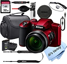 $359 » Nikon COOLPIX B600 (RED) 16.7 MegaPixel Digital Camera + 32GB Card, Tripod, Case and More (13pc Bundle)