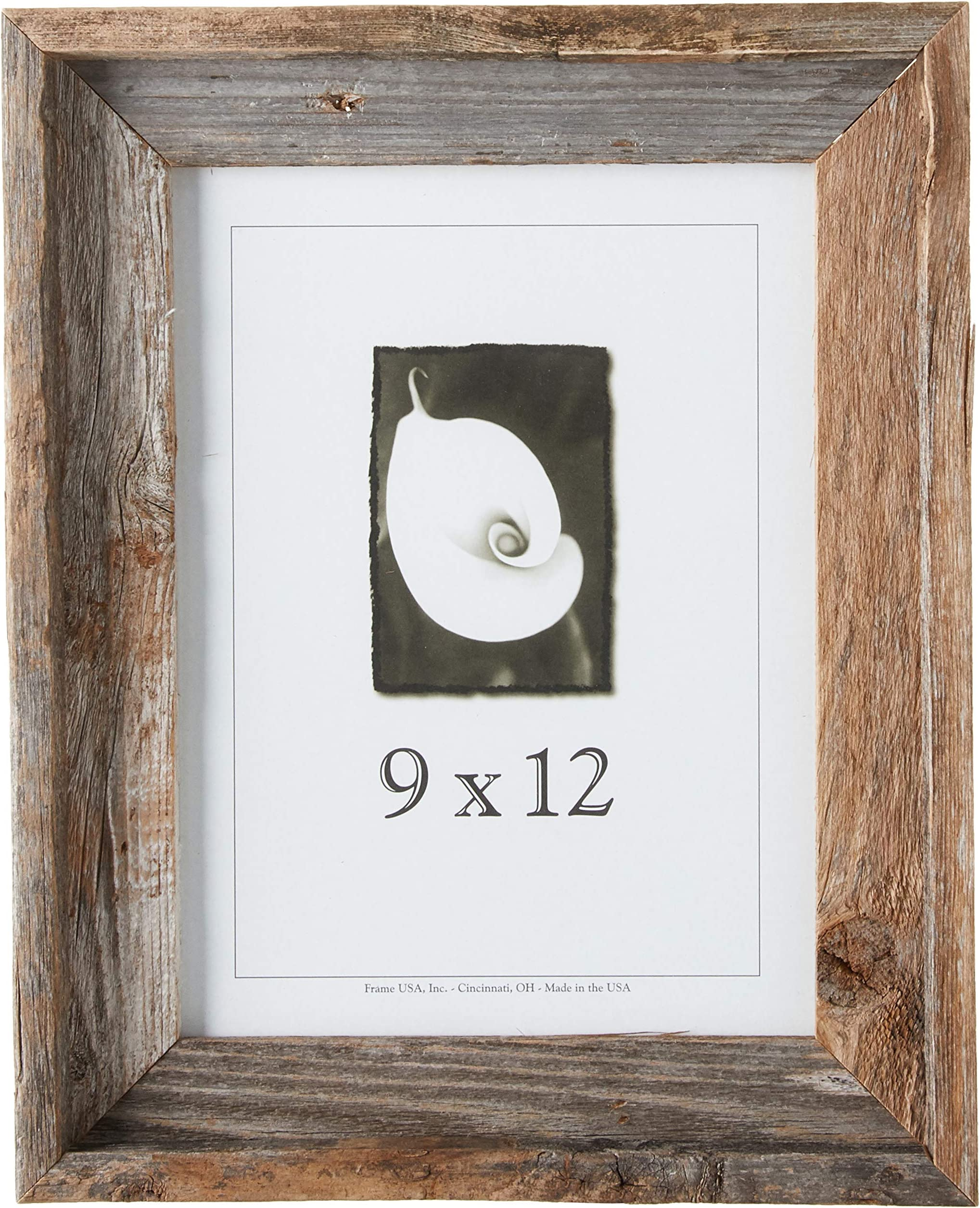 Chic Beach Themed First Birthday Black Photo Mat with Optional Rustic Barnwood Finish Picture Frame Beach Nursery Decor