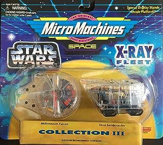 Micro Machines Star Wars 3 X-Ray Fleet Collection III Millennium Falcon & Jawa Sandcrawler