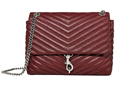 Rebecca Minkoff Edie Flap Shoulder Bag (Pinot Noir) Handbags