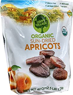 Happy Village Organic and Unsulphured Apricots, 40-ounce