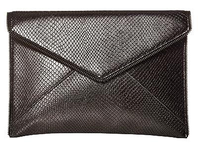 Rebecca Minkoff Leo Clutch (Anthracite 1) Clutch Handbags