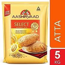 Aashirvaad Select Whole Wheat Sharbati Atta 11 Pound (5 KG)
