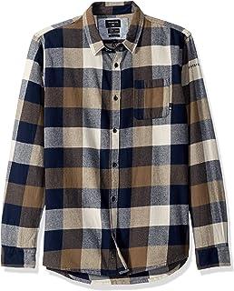 قميص رجالي Quiksilver مطبوع عليه MOTHERFLY FLANNEL منسوج