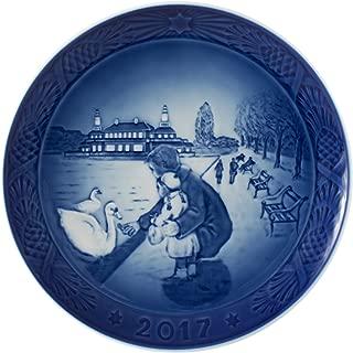 Royal Copenhagen 1021105 Christmas Plate 2017, By the Lake