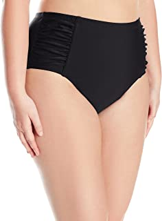 1a1d70ce24b Jessica Simpson Women s Plus-Size Solid Shirred High Waisted Bottom