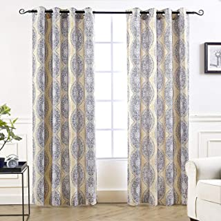 damask eyelet curtains