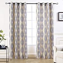 Best blue and brown grommet curtains Reviews