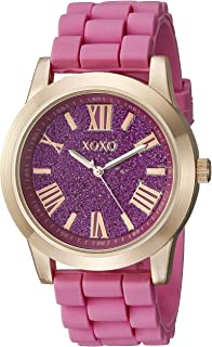 XOXO Women's XO8086 Rose Gold-Tone and Pink Watch