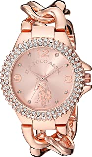 U.S. Polo Assn. USC40226 Women's Quartz Watch, Analog Display and Stainless Steel Strap