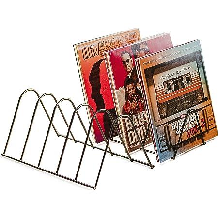 Estantería vinilos | Soporte discos | Almacenamiento para 75 LPs | Soporte folletos | Metal negro mate | Soporte para discos Revistas Libros | Estante para vinilos record | Vinyl records decoration