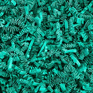 Crinkle Cut Paper Shred Filler (1/2 LB) for Gift Wrapping & Basket Filling - Teal   MagicWater Supply